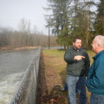 Justin Hall (left) explores options for developing a floatable trail along the Nisqually River.